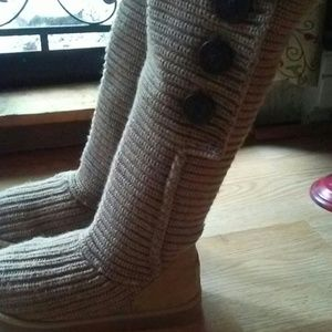 UGG knitted tall boots
